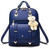 Oyfel School Backpack for Girls Women PU Leather Shoulder Bags Rucksack Daily Bag Teenager Students Waterproof Travel Bag College Daypacks