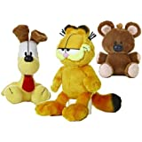 "Garfield the Cat Plush Set: Garfield, Odie, Pooky by Aurora World (7""-11"")"