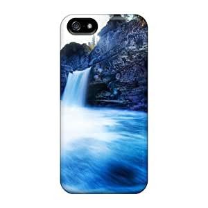 New Fashionable Charming YaYa Cover Case Specially Made For Iphone 5/5s(waterfall At Glacier National Park) wangjiang maoyi