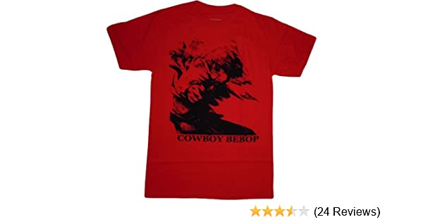 18c94ea1023 Amazon.com  Cowboy Bebop Spike in Motion Red T-Shirt  Clothing