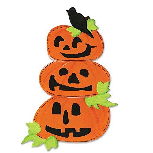 Sizzix 655569 Bigz Die Pumpkins with Crow & Leaves by Brenda Pinnick, Multicolor