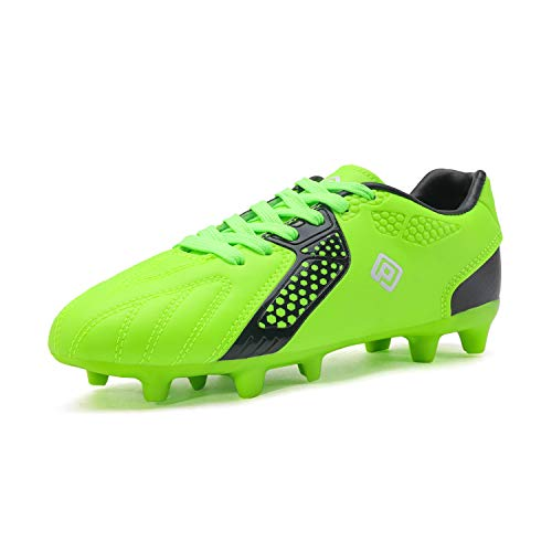 DREAM PAIRS Boys Hz19006k Soccer Football Cleats Shoes Neon Green Black Size 3 M US Little Kid