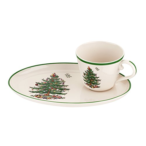 Spode Christmas Tree Soup and Sandwich Set