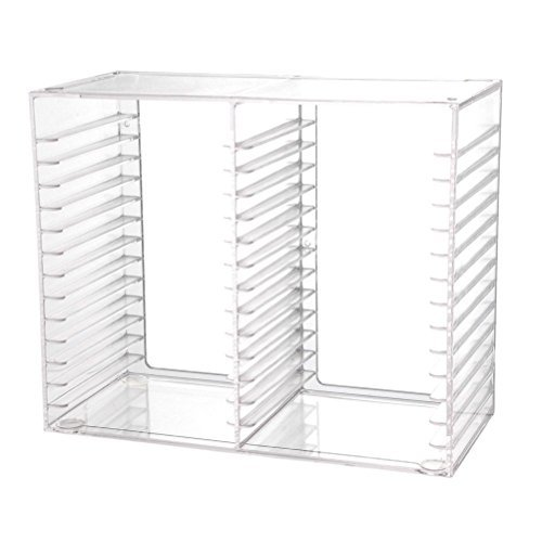 CD DVD Storage Rack Jewel Case Holder Stand Organizer Crystal Clear Shelf Decor