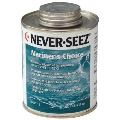 Mariner's Choice Anti-Seize - mariners choice 16 oz brush top 2450 deg by Never-Seez