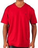 Ralph Lauren - T-shirt classique à col en V - rouge - homme