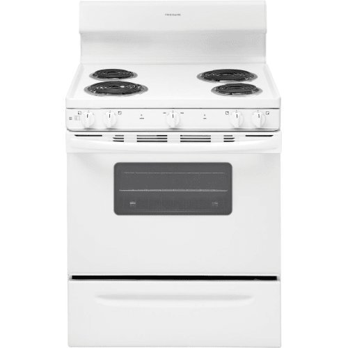 Frigidaire FFEF3010TW 30 Inch Freestanding Electric Range with 4 Coil Elements, 4.2 cu. ft. Primary Oven Capacity, in White