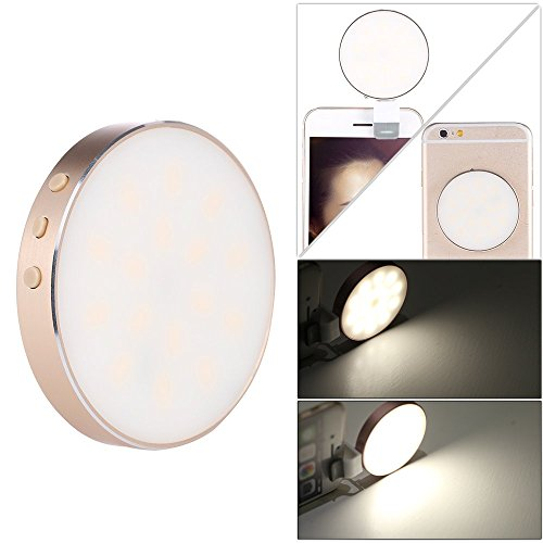 Oloong Mini 16 LED Selfie Flash Light Clip-On Spotlight L...