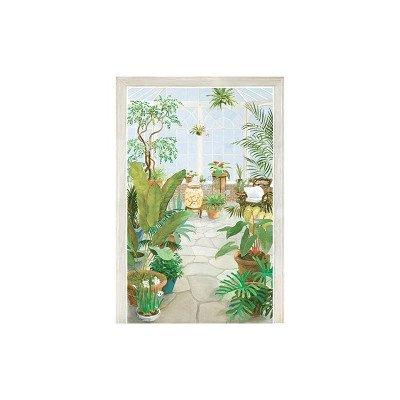 - York Wallcoverings UR2049M Atrium Mural, Green/Sky Blue/Terra Cotta/Stone Gray/Window Sash White