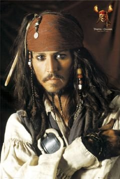 PIRATES OF THE CARIBBEAN POSTER JACK SPARROW JOHNNY DEPP Captain Jack Sparrow Poster