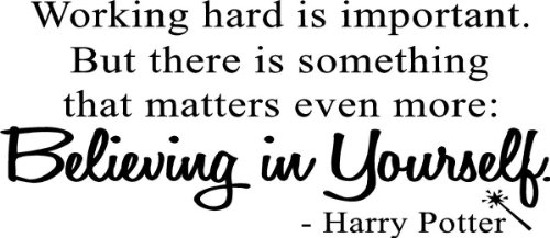 Harry Potter Quotes - Working hard is important Vinyl Wall Decal Quotes Wall Stickers Inspirational Decals Home Decor Decals