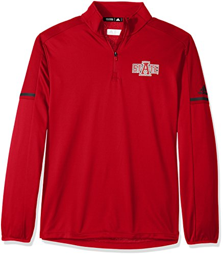 NCAA Arkansas State Red Wolves Men's Sideline L/S 1/4 Zip Pullover Jacket, Large, Power - Men Arkansas