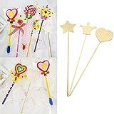 Toyvian Wood Craft Stick Magic Wand Handmade Toy