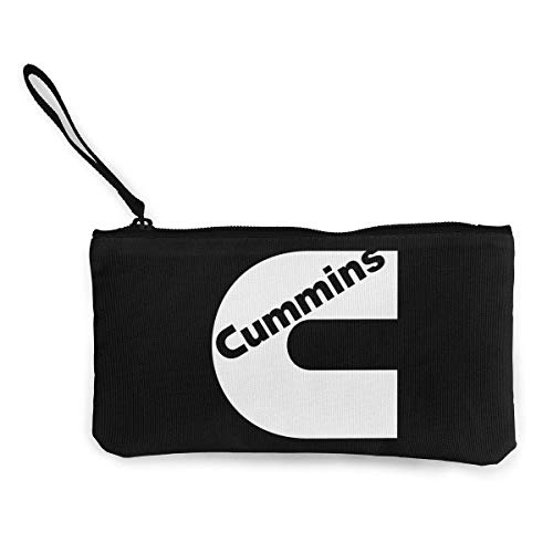 Cummins Cotton Canvas Cash Coin Purse Make Up Bag Cellphone Bag With Zipper And - Cummins Coin