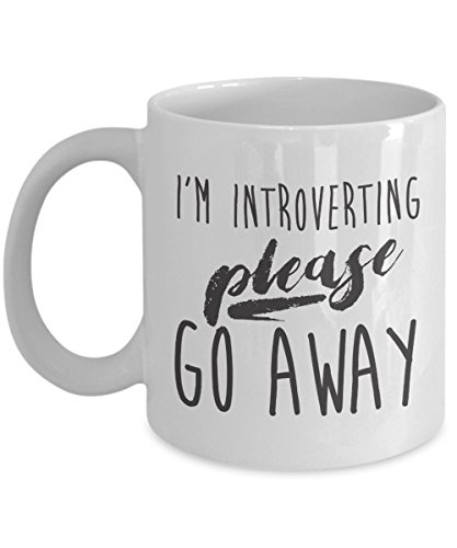 Im Introverting Mug 11oz - Please Go Away - Perfect Introvert - How To Go Away Make Scratches