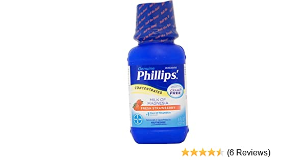 Amazon.com: Phillips Concentrated Milk of Magnesia Saline Laxative, Fresh Strawberry 8 oz (Pack of 2): Health & Personal Care