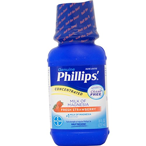 Phillips' Concentrated Milk of Magnesia Saline Laxative, ...