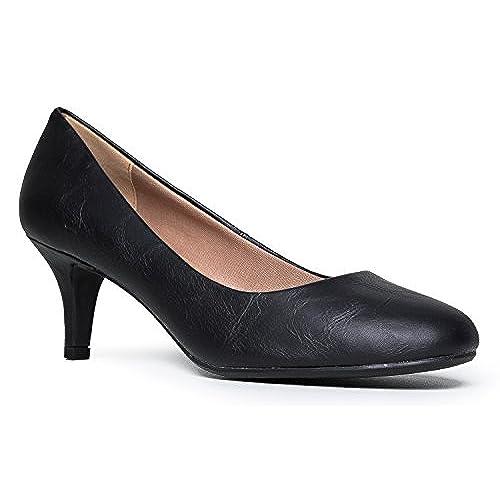 Black Kitten Heels: Amazon.com