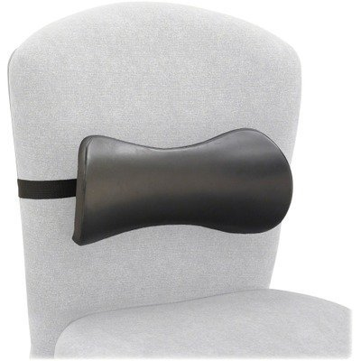 (Safco 7154BL - Lumbar Support Memory Foam Backrest, 14-1/2w x 3-3/4d x 6-3/4h, Black by Safco)