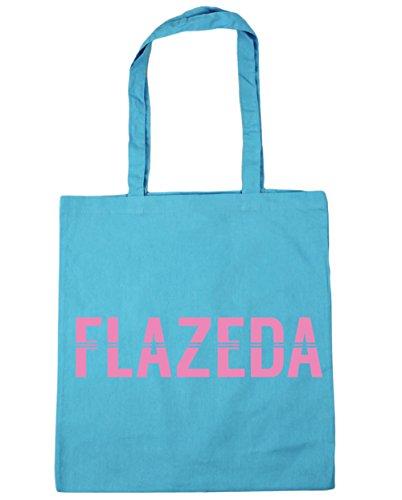 HippoWarehouse Flazeda Einkaufstasche Fitnessstudio Strandtasche 42cm x38cm, 10 liter - Damen, Surfen Blau, One size