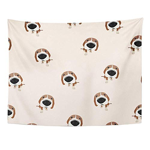 - SPXUBZ Wall Tapestry Cute Jack Russell Terrier Dog with Big Head and Nose Food Animal Bone Breed Wall Hanging Decoration Soft Fabric Tapestry Perfect Print for House Rooms