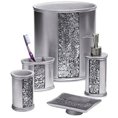 Popular Bath  Sinatra Silver  5 PC Bath Accessory Set