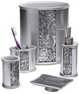 silver kitchen accessories popular bath quot sinatra silver quot 5 pc bath 2223