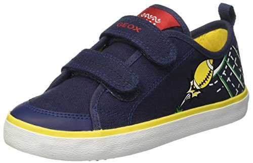 Geox Jr Kilwi Boy, Zapatillas Para Niños Azul (Navy/Yellow C0657)