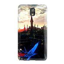 New Design Shatterproof GumLjGZ22268bRufP Case For Galaxy Note 3 (is World Trigger Good) With Free Screen Protector