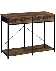 SONGMICS Console Table, Sofa Side Table with 2 Drawers, Metal Frame, for Entryway ULGS022B01