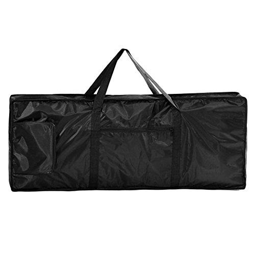 61 Key Electronic Keyboard Bag Black Case Oxford Travel Bag - 8
