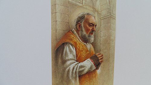 Saint Padre Pio Cord Rosary with Prayer Card (Gold,Gray & White)