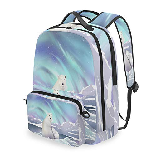 - Aurora Save Polar Bear 15 Inch Travel Laptop Backpack College School Computer Bags Cross Bag