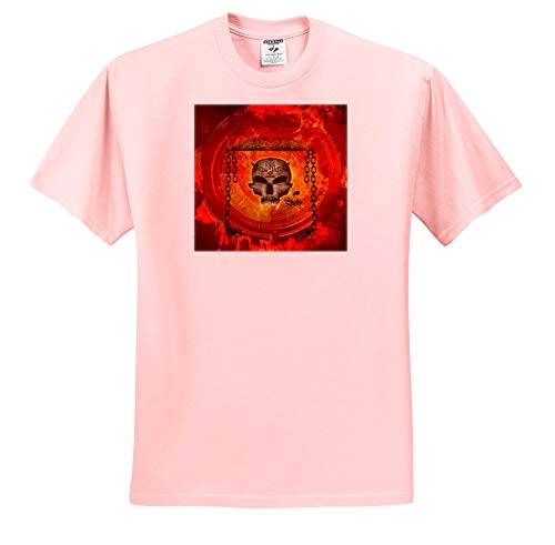 3dRose Heike Köhnen Design Skull - Awesome Skull with Celtic Knot - Toddler Light-Pink-T-Shirt (2T) (ts_310280_47)