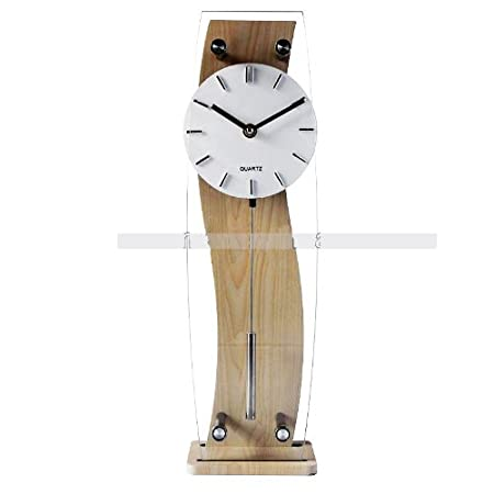 Large deluxe rectangular wooden pendulum wall clock glass front large deluxe rectangular wooden pendulum wall clock glass front table clock wall clock kitchen clock aloadofball Choice Image