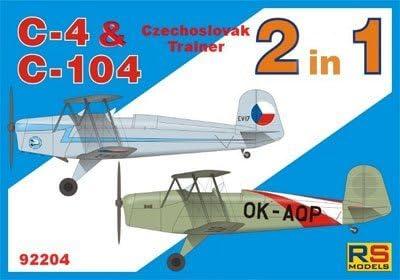 RSモデル 1/72 C4 & C104 練習機 プラモデル 92204