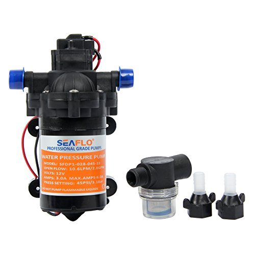 Water Diaphragm Self Priming Pump 2.8 Gallons/min (10.6 Lpm) 45 PSINew Rv / Marine 12 Volt Dc / 12 V Demand Fresh