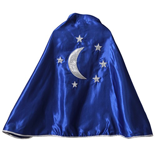 Kids Blue Magician Star & Moon Cape (Boys Costume Trunk)