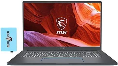 MSI Prestige 15 A10SC-400 Gaming and Business Laptop (Intel i7-10510U 4-Core, 32GB RAM, 2TB PCIe SSD, NVIDIA GTX 1650 [Max-Q], 15.6″ Full HD (1920×1080), WiFi, Bluetooth, Webcam, Win 10 Pro) with Hub