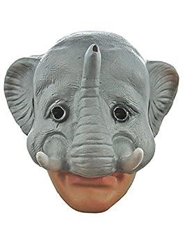 Media máscara de elefante de goma