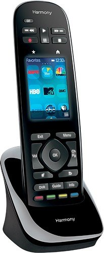 Logitech Harmony Ultimate One 15-Device Universal Remote with 2.4'' Color Touchscreen, Favorite-Channel Icons and Rechargeable Battery (Black)
