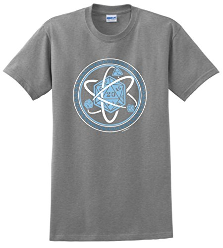 ThisWear Gamer Gifts D20 Dice Atom Elements of a Gamer T-Shirt 4XL SpGry (2000 Dice)