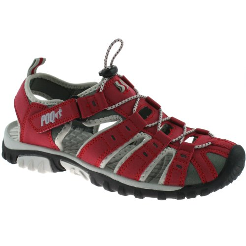 PDQ - Sandalias deportivas para mujer Rojo - rojo