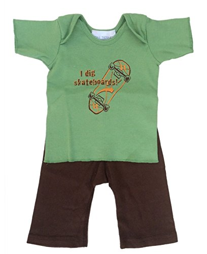 Toni Tierney Baby Boys' Skateboard Tee and Pant Set 9 ()