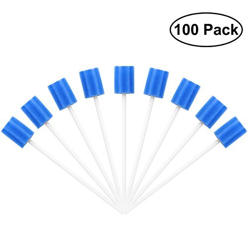 ROSENICE Mouth Swabs Sponge Disposable Oral Care Tooth Cleaning Sponge 100Pcs