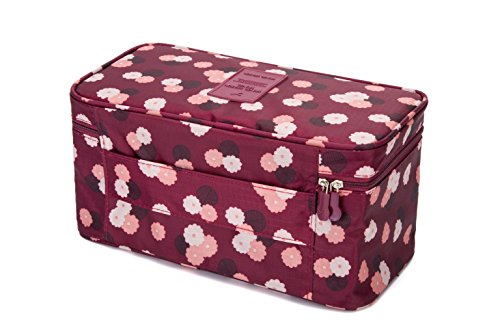 Am By Baby Motion Bed (Travel Luggage Organizers Packing Cubes-Compression Pouches For Underwear,Bra,Socks(Wine Daisy))