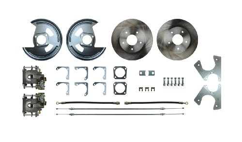 Chevy Chevelle Disc Brake - Right Stuff Detailing AFXRD01 Rear Disc Conversion Kit for 10/12 Bolt Non-Staggered Shock