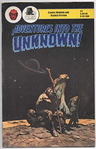 ADVENTURES into the UNKNOWN #2, VF, Frazetta, Horror, Science Fiction, 1990