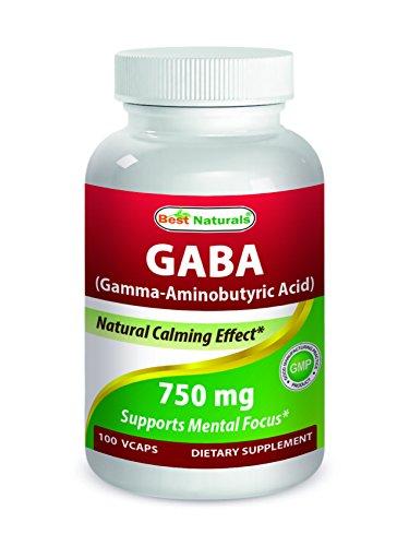 (Best Naturals Gaba 750 mg 100 Veggie Caps)