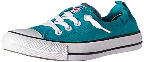 Converse Women's Chuck Taylor All Star Shoreline Slip-On Low Top Sneaker, Turbo Green/White/Black, 9 M US (Sneakers Womens On Converse Slip)